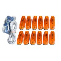 Wholesale 12pcs Amber Running Board Light Kit oval , T10 DC 12V / 5W from china suppliers