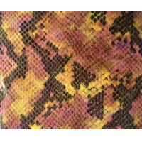 Wholesale Natural Fake Snakeskin Vinyl Fabric , Bags Snake Skin Pattern Fabric from china suppliers