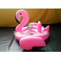 China Pink Flamingo Inflatable Pool Floats Strong PVC Custom Metal Frame on sale
