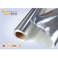 China Fire Resistant Aluminum Foil Fiberglass Cloth With Good Hermetic And Weather Resistance on sale
