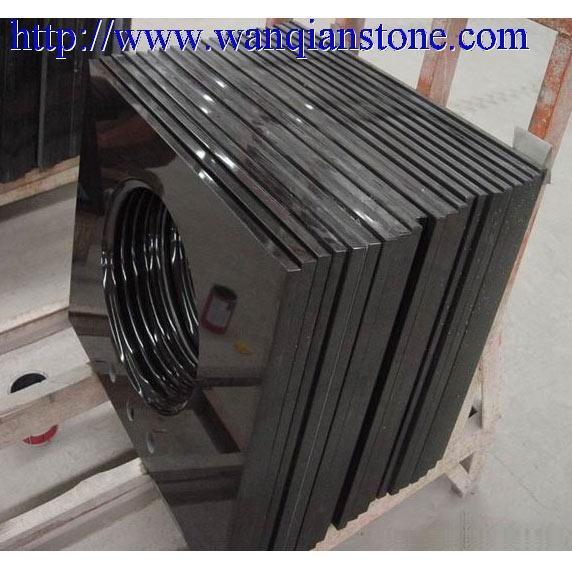 Quality Black granite vanity top for sale