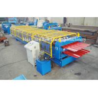 China Forming Speed 8-12m/min Double Layer Roof Forming Machine Shaft Diameter 76mm on sale