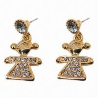 Wholesale Fashionable Stud Earrings, Cute Girl Design from china suppliers