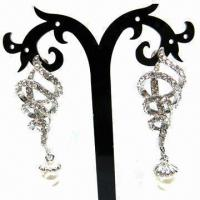 Wholesale Fashionable Stud Earrings, Fancy Design, Suitable for Parties/Anniversaries from china suppliers