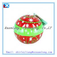 Wholesale metal tins ball shaped box from china suppliers