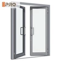 Aluminium Double Glazed French Doors , Soundproof French Hinged Doors for sale