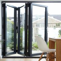 Wholesale Folding Bifold Commercial Aluminium Doors Tempered Glass Inward / Outward Opening from china suppliers