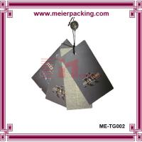 Wholesale Matte lamination black paper clothing tag, paper rectangle hangtag ME-TG002 from china suppliers