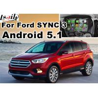 Wholesale Android 5.1 Navigation Box Video Interface For Ford Kuga Escape SYNC 3 With WIFI BT MirrorLink Map Google Service from china suppliers