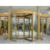 Wholesale Security glass 2 wing golden automatic revolving door Of aluminium frame from china suppliers
