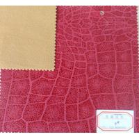 Wholesale Good Elastic Strenghth PU Coated Leather Embossed Pattern with Good Abrasion Resistant from china suppliers