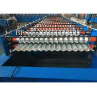 China Metal Corrugated Roof Panel Sheeting Roll Forming Machine 2 Years Warranty for sale