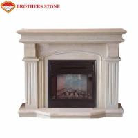 Wholesale Customized Size Beige Marble Fireplace Surround With Polished / Drawing Surface from china suppliers