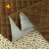 Buy cheap 2018 New arrival Quilted italian Velvet Fabric for winter coat from wholesalers