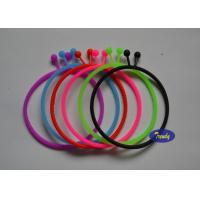 Thin Personalized Rubber Bracelets 100% Pure Silicone No Additives for sale