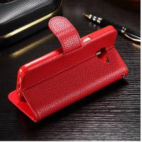 Wholesale Colored Samsung J7 Prime Leather Case , Stitching Personalised Leather Phone Case from china suppliers