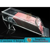 Wholesale 1.2kg Transparent Acrylic Casino Card Shoe With Excellent Light Transmission from china suppliers