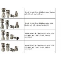 Wholesale 14mm&19mm 4 IN 1 domeless titanium nail, with male and female joint. really convenient from china suppliers