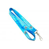 Wholesale Blue Dye Sublimation Lanyards For Soccer Competition Neck Strap 900*20mm from china suppliers
