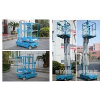 Wholesale Motor Driven 5m Height Aerial Work Platform Self Driven Dual Mast Lightweight from china suppliers