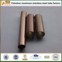 Wholesale Bronze color finish pipe stainless steel SS304 exporter from china suppliers