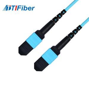 Buy cheap OM3 Aqua 50/125μm Fiber optic patch cord SM MM SX DX fiber optical cable from wholesalers
