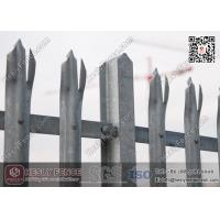 D section pale Steel Palisade Fence