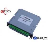 High Performance 1x8 PLC Fiber Optic Splitter LGX Type SC Connector Outdoor GPON for sale