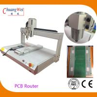 Buy cheap White PCB Depaneling PCB Router Machine with 500mm/s Cutting Speed from Wholesalers
