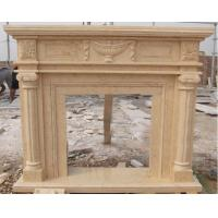 Wholesale Yellow marble fireplace surround from china suppliers