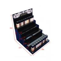 Quality Multi - Layer Acrylic Nail Polish Display Stand Gloss Black Assemblied for sale