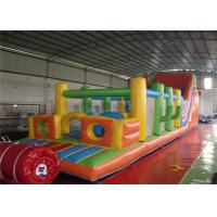 Wholesale Fire Resistant Huge Inflatable Obstacle Course Playground / Obstacle Course Bounce House from china suppliers
