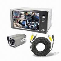 Wholesale 7-inch 4CH LCD/DVR Combo with Built-in Color CCD Camera and Lens from china suppliers