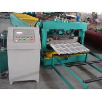 China Delat PLC Control Steel Metal Roof Panel Roll Forming Machine Roof Panel Roll Former With 5 Ton Decoiler for sale
