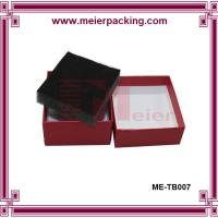 Quality Rigid paper cosmetic box, red cardboard paper box with sponge insert ME-TB007 for sale