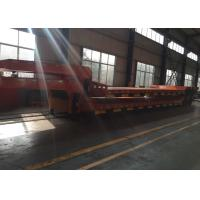 China Hydraulic Flatbed Semi Trailer Truck For Construction Loading 80 Tons 17m for sale