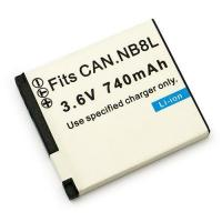 Wholesale 1050mah 3.7V li-polymer battery for CANON NB-8L from china suppliers