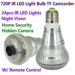 Wholesale HD 720P E27 24pcs LED Light IR Bulb Lamp Video Camcorder Hidden Spy CCTV Surveillance DVR from china suppliers