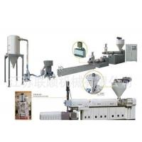 PP PE Granules Production Line , Plastic Waste Recycling Granulating Making Machine