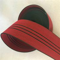 Wholesale 50mm High Tenacity Outdoor Furniture Webbing Red With 3 Black Lines from china suppliers