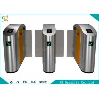 China Security Flexible Biometric Speed Turnstile Flap Barrier Gate With Relay Signal on sale