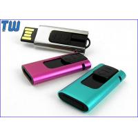 Buy cheap Slide Type USB Pen Thumb Drive 4GB Rectangle Design Curved Edge from Wholesalers