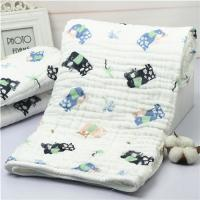 China Lightweight Muslin Baby Blankets Stock Nature Cotton Portable Reactive Printing on sale