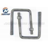 China OEM Steel MS Gr4.8 High Tensile Custom Fasteners Gr8.8 Square Bend U Shaped Bolts M16 Diameter on sale