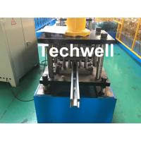 Wholesale PPGI , Galvanized Steel Guide Rail Roll Forming Machine With Disk Saw Cutting For Making Shutter Door Slats from china suppliers