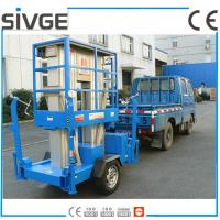 Quality Aluminium Alloy Trailer Mounted Lift 8m Hydraulic Trailer Bucket Lift for sale