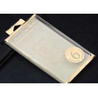 Wholesale Gold / Silver Foil Plastic Packaging Boxes , Clear Iphone 6 Case Box from china suppliers