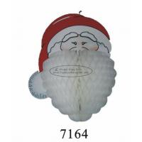 China Customized 3D Paper Hanging Christmas Decorations Santa Claus Honeycomb Craft on sale