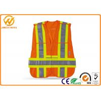Wholesale Fluorescent Orange Reflective Safety Hi Vis Mesh Vests for Warning Protection from china suppliers
