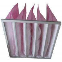 Wholesale HVAC System Pockets Bag Air Filters Pink Synthetic Fiber Medium Efficiency from china suppliers
